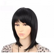 GadinFashion Full Head Hair Extensions And Wigs Women's Short Straight Bob Wig Natural Brown