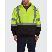 Old Toledo Brands Utility Pro UPA542 Polyamide High-Vis 1/4 Zip Pullover with Dupont Teflon fabric protector, BlackYellow, 5X-Large