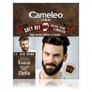 Farba protiv sedih za kosu, bradu i brkove CAMELEO MEN 3.0 tamno smedja 2x15ml