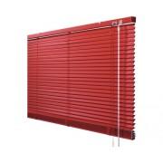 Jaluzea aluminiu Soluna 60x170 cm rosie, cu 20% mai multe lamele pentru un efect de intunecare mai intens