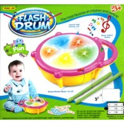 Multi Coloured Flash Light Drum With Music Best Gift Toy For Kids