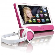 Lenco Dotykový tablet s DVD přehrávačem TDV-900, růžová, 9 palců