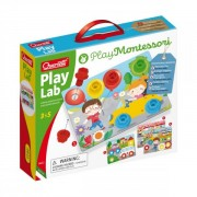 Joc educativ pentru copii Quercetti Play Montessori 0622 Play Lab Planse cu desene suruburi si piulite speciale din plastic