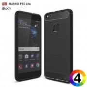 Huawei P10 Lite Удароустойчив Carbon Fiber Калъф и Протектор