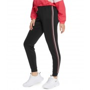 GUESS Eryka Neon Striped Track Pants jet black