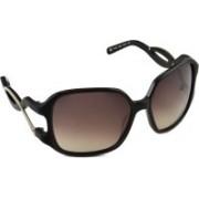 Tommy Hilfiger Rectangular Sunglasses(Brown)