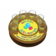 Boldog szülinapot 6db 1,5cl FT001 - Tréfás Pálinkás kör pohár szett
