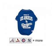Pets First MLB Dog T-Shirt, Los Angeles Dodgers, Large