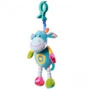 Бебешка плюшена музикална играчка смееща се крава, 1142 Babyono, 9070072