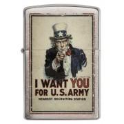 "Brichetă Zippo 29595 Uncle Sam ""I Want You For U.S. Army"""