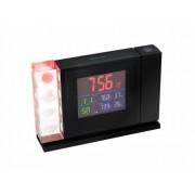 Statie meteo si ceas alarma cu afisaj color si proiectie Bresser MyTime Crystal