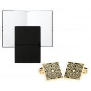 Butoni Golden Maya Classic Pattern si Note pad Black Hugo Boss