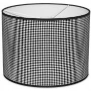 Taftan Hanglamp Kleine Ruit Zwart-diameter 35 cm