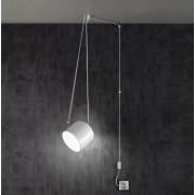 Paco lampara colgante con enchufe metal blanco o negro