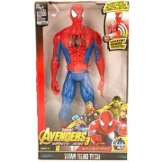 Spiderman Super Hero Action Figure Toy with Speech Sound Effect for Kids (12 inch) (Spiderman) Color May Vary
