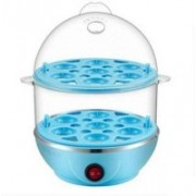 MOTHER Double Layer Boiler Steamer Electric Double Layer Boiler Steamer Egg Cooker EGG BOLIERI Egg Cooker (14 Eggs) Egg Cooker(Blue, 14 Eggs)