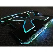 Placa 3D Carbonrevo finisaj negru mat cu leduri pentru Dualtron X