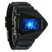 Black Digital LED Rocket Watches for Men By 7Star by sport online