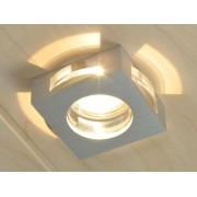 aniba Design Lampe Halogène encastrée avec élements décoratifs en verre - Dimensions: env. Larg/Haut/Long 9x9x4,5 cm ,Argent