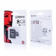 Carte Memoire Kingston Micro SD 8G + 1 adaptateur 10 class