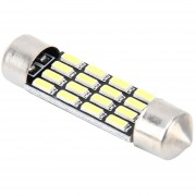 2 Pcs 2W 100 Lm 6000K Lámpara LED 36mm Bicúspide Puerto Coche Cupula De Luz De Lectura Con 16 Smd-4014 Lamparas LED DC 12V (luz Blanca)