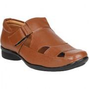 Marco Ferro 1685 Regal Men's Tan Faux Leather Formal Sandal 6 UK