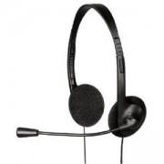 Слушалки с микрофон, HS-101, средни, черни