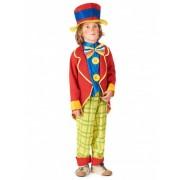 Disfraz de payaso para niño con chaqueta S 4-6 años (110-120 cm)