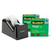 SCOTCH TAPE MAGIC SCOTCH 810K2-C28 + BONUS DISPENSER BLACK(EACH)