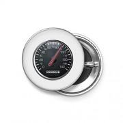 Shopsmeade® Motorsport, Speedo, Speedometer, Speed Meter, Race, Racing Cars, White Round Pin Button Badge