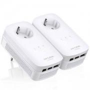 Адаптер Powerline TP-Link TL-PA8030P KIT AV1200 3-Port Gigabit Passthrough Starter Kit, TL-PA8030PKit_VZ