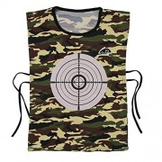 EKIND Discolored Target Vest for Nerf Soaker Water Gun Game And Water Crystal Soft Bullets Game (Green Camouflage)
