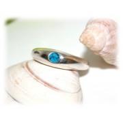 Bague Turquoise Délicate Argent