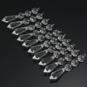 Meco 10 x Acrylic Crystal Beads Garland Chandelier Lamp Hanging Wedding Party Indoor Decor