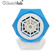 Sketchfab Multimedia Rechargeable Speaker for PC/Laptop/Mobile USB Memory Card Supported - Blue