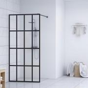 vidaXL Параван за баня, закалено стъкло, 140x195 см