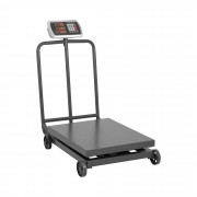 Bilancia a piattaforma - 600 kg / 100 g - con ruote - display LED