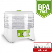 Appleberry Dörrgerät weiß/grün 400W Dehydrator 4 Etagen BPA-frei