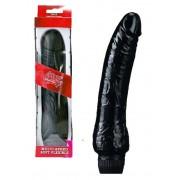Vibratore Realistico Perfect Black in Morbido Jelly - 21 x 4 Cm.