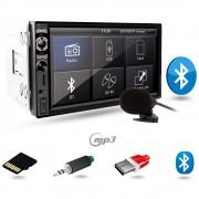 MP3 Player Auto 2DIN cu Microfon Extern, Bluetooth, Radio FM, Touchscreen Display 7 inch, Telecomanda, USB, MicroSD, AUX, Putere 4x45W, Vordon