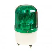 Jelző lámpa+sziréna LTE1101J-G 230V zöld ELMARK
