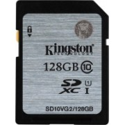 Kingston 128 GB MicroSDXC Class 10 45 MB/s Memory Card