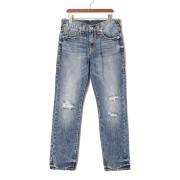 【82%OFF】GENO NO FLAP SUPER T ダメージウォッシュ デニム ブルーブラフ 32 ファッション > メンズウエア~~パンツ