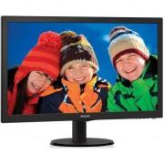 "Monitor LED Philips 23.6"", Wide, Full HD, HDMI, DVI, Boxe, Negru, 243V5LHAB"