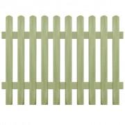 vidaXL Gard din țăruși, lemn de pin tratat, 170x120 cm 6/9 cm