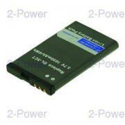 2-Power Mobiltelefon Batteri Nokia 3.7v 700mAh (BL-5CT)