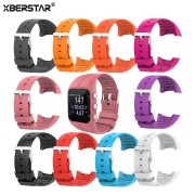 XBERSTAR Silicone Strap for Polar M400 M430 Replacement Watchband with Pins Tools Metal Buckle