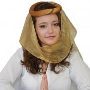 Merkloos Hoofdtooi voor dames met sluier - Verkleedhoofddeksels