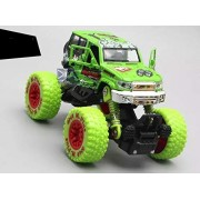 RIANZ 1:30 Scale Bigfoot Four Wheel Spring Alloy Off Road Double Back Die Cast Cars Monster Truck, Car, Big Rubber Tires, Metal Suspension