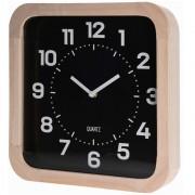 Home Styling Collection Nástěnné dřevěné hodiny, čtvercový - 30 x 30 cm